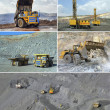 Set of images of open cast mining of iron ore — Stockfoto #37857037