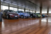 Saloon cars sales — Stock Photo