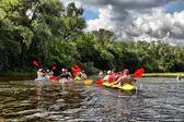 River, Sula,  Ukraine, river rafting kayaking editorial photo — Stock Photo