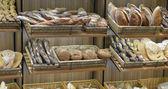 Bread in a shop window — Stock Photo