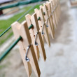 Clothes peg — Stock Photo