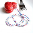 Heart on a fork — Stock Photo #35436049