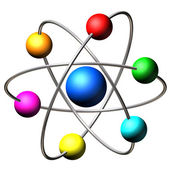 Atom molecule — Stock Photo