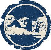 Mount Rushmore — Stock Vector