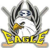 Hockey eagle — Stock Vector