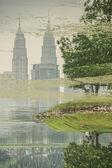 Kuala Lumpur Petronas Twin Towers — Stock Photo