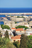 Rhodes. Panorama of old town — Stock Photo