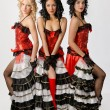 Cancan dancers — Stock Photo