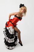 Cancan dancer — Stock Photo