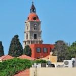Rhodes Landmark Clock Tower — Stock Photo