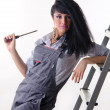 Girl electrician — Stock Photo