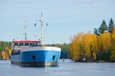 River Cargo Ship — Stock Photo