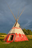 Colored wigwam — Stock Photo