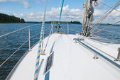 Sailing yacht in the Gulf of Finland — Stock Photo