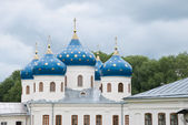 Blue dome of ancient Russian Orthodox Church — Stock Photo