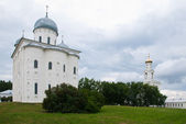 The St. George's (Yuriev) Monastery in Novgorod, Russia — Foto Stock