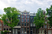 Typical Dutch Houses in Amsterdam — Stock Photo
