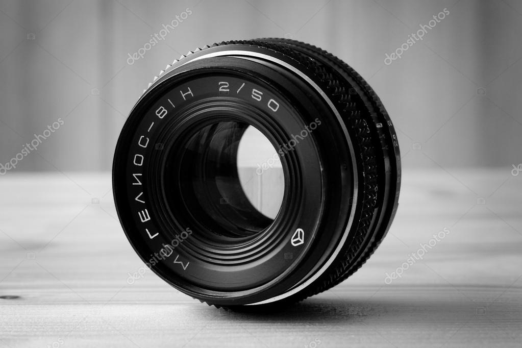 Lens of the Soviet camera. Helios 81H — Stock Photo #17143749