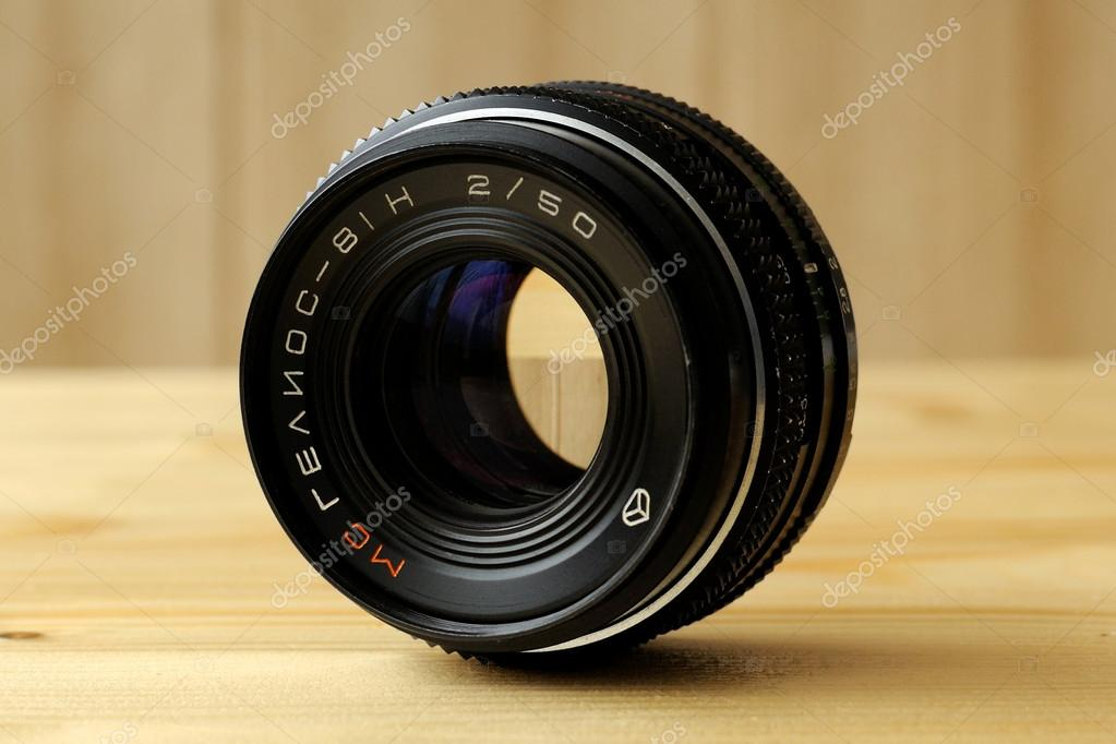 Lens of the Soviet camera. Helios 81H  Stock Photo #17613775