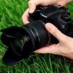 Photographer shoots macro — Stock Photo