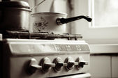 Old stove — Stock Photo