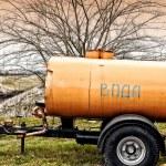 Automobile trailer tank — Stock Photo