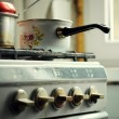 Old stove - Stock Photo