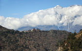 Widok na klasztor tengboche, nepal — Zdjęcie stockowe