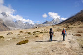 Tracking in Himalayas — Stock Photo