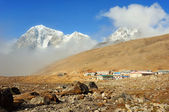 Settlement Lobuche in Himalayas, Nepal — Stock Photo
