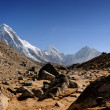 Pumo Ri peak (7138 m), Nepal, Himalayas — Stock Photo