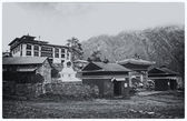 Monastery Tengboche. The mountain settlement in Nepal (3867 m) — Stock Photo
