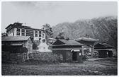 Monastery Tengboche. The mountain settlement in Nepal (3867 m) — Photo