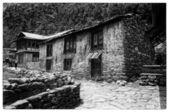 Nepal köyü eski ev — Stok fotoğraf