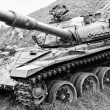 Old Soviet tank - T-72 — Stock Photo