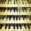 Background piano keys — Stock Photo
