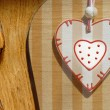 Country style wooden heart card — Stock Photo