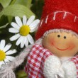 Happy little girl gnome — Stockfoto #12136208