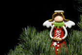 рождественская открытка ангел — Стоковое фото