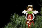 圣诞贺卡天使 — 图库照片