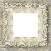 Vintage lace frame — Stock Photo