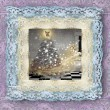 Old lace picture, Christmas card - Stok fotoğraf
