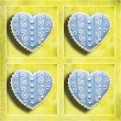 Foto de Stock  : Four blue hearts