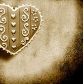Love card in sepia tone — Stock Photo