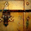Royalty-Free Stock Photo: Old gold metal chest,