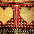 Two hearts hippie style — Stock Photo