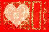 Rood hart achtergrond — Stockfoto
