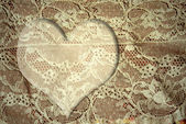 Romantic lace heart card — Photo