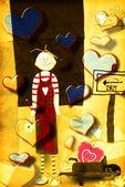 カード、面白いの若い恋人 — ストック写真