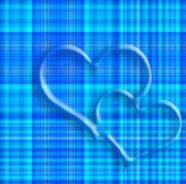 バレンタイン カードの 2 つの心 — ストック写真